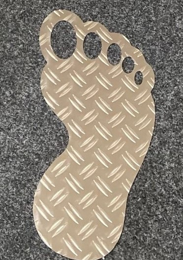 Unterlage Fußpaar